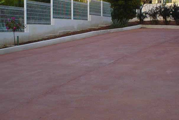 B ton d 39 am nagement color d 39 ext rieur for Terrasse beton colore